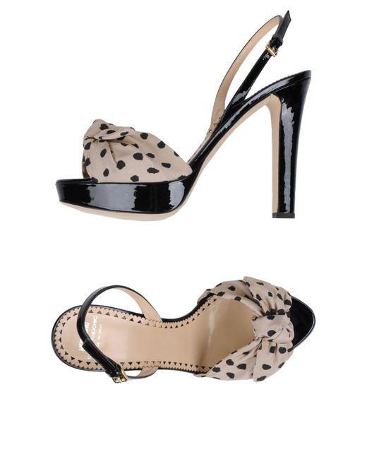 Boutique Moschino - Black Platform Sandals - Lyst