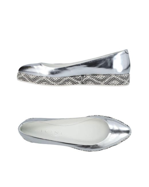 Vicini Tapeet - Metallic Ballet Flats - Lyst