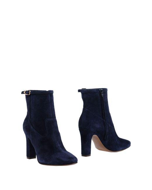 L'Autre Chose - Blue Ankle Boots - Lyst