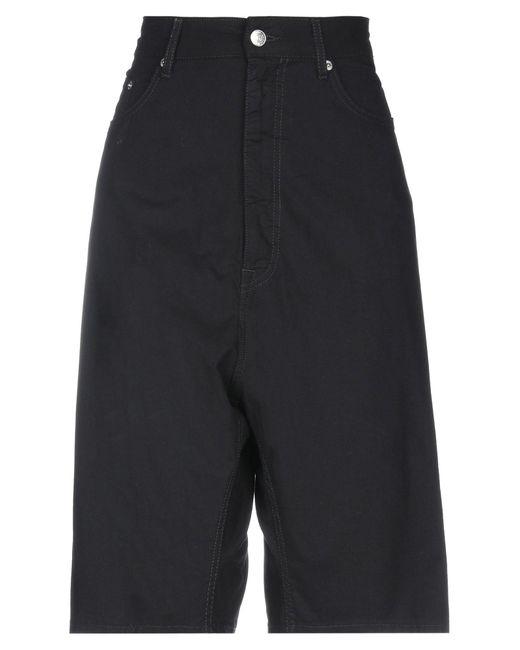 MM6 by Maison Martin Margiela Black Bermuda Shorts