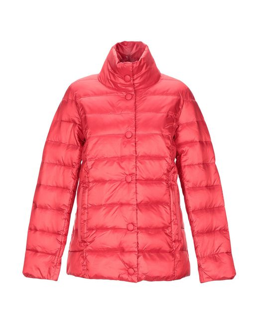Romeo Gigli Red Synthetic Down Jacket