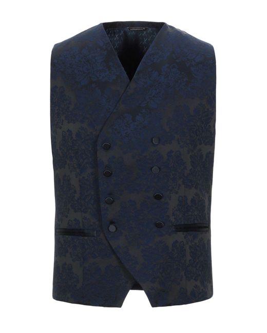 Chaleco Grey Daniele Alessandrini de hombre de color Blue