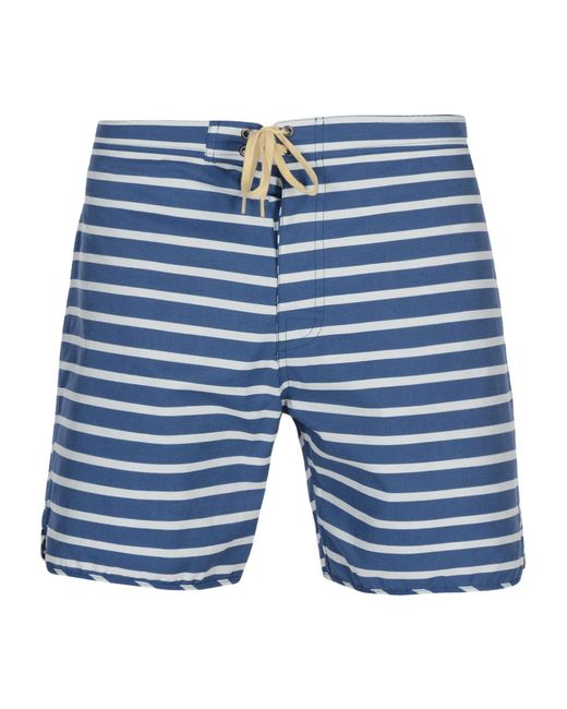 Mollusk Blue Beach Shorts And Pants for men