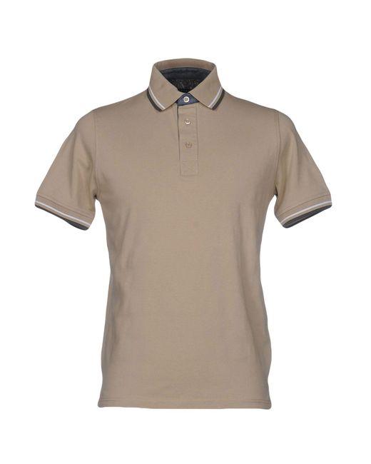 Alpha Massimo Rebecchi   Natural Polo Shirt for Men   Lyst