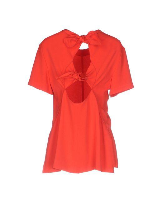 Blusa di Proenza Schouler in Red