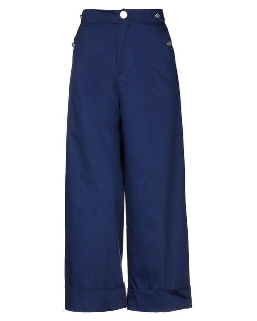 ..,merci Pantalones de mujer de color azul