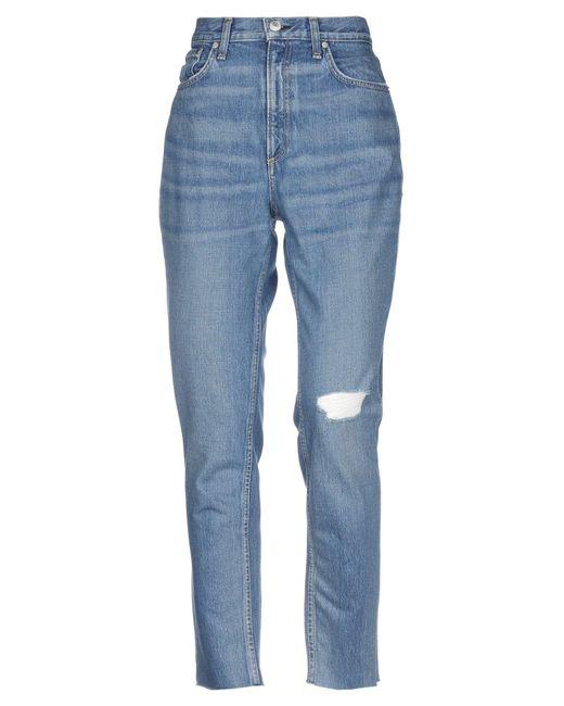 Rag & Bone Blue Denim Pants