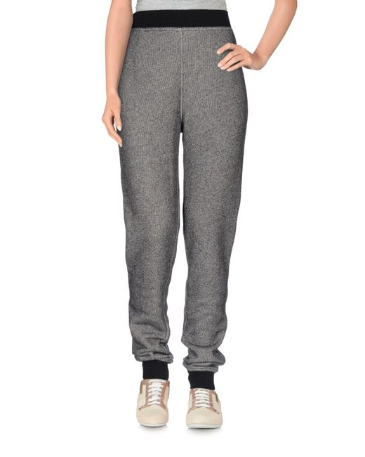 T By Alexander Wang | Gray Casual Pants | Lyst