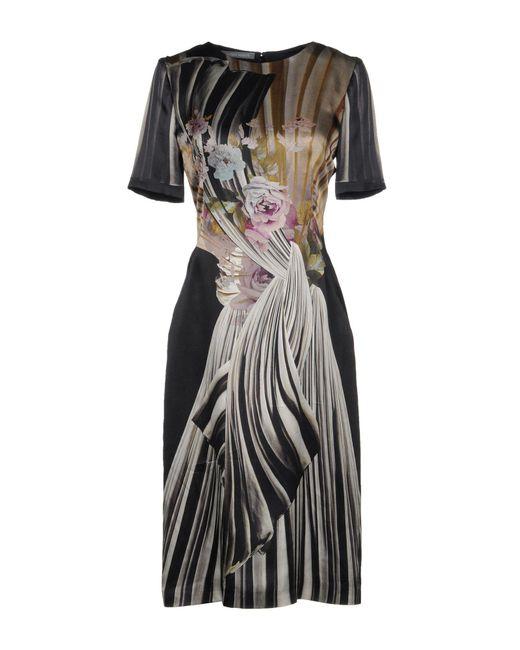 Alberta Ferretti - Black Knee-length Dress - Lyst