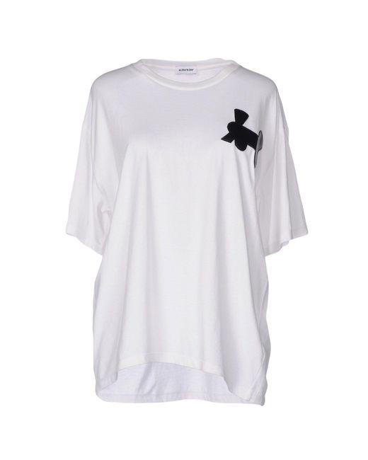 Au Jour Le Jour - White T-shirts - Lyst
