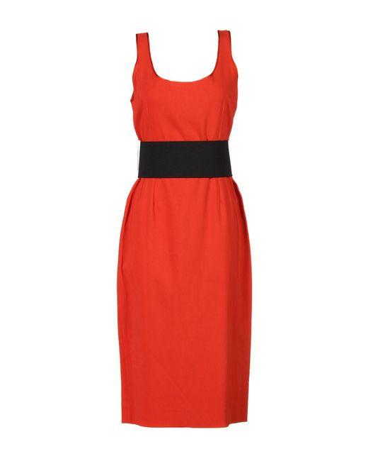 Jonathan Saunders - Red 3/4 Length Dress - Lyst