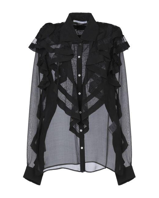 Faith Connexion Camisa de mujer de color negro N9N2z