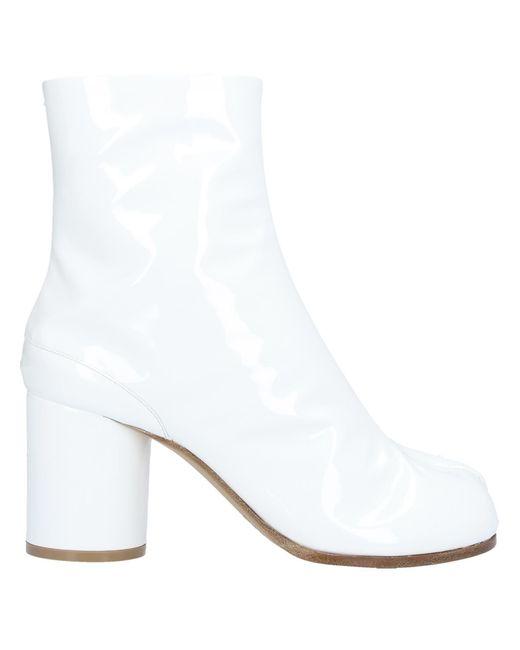 Maison Margiela White Ankle Boots