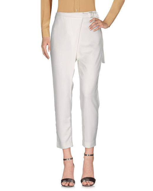 By Malene Birger | White Casual Trouser | Lyst