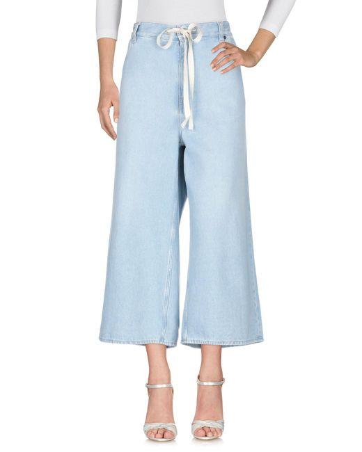 MM6 by Maison Martin Margiela Pantalon en jean femme de coloris bleu