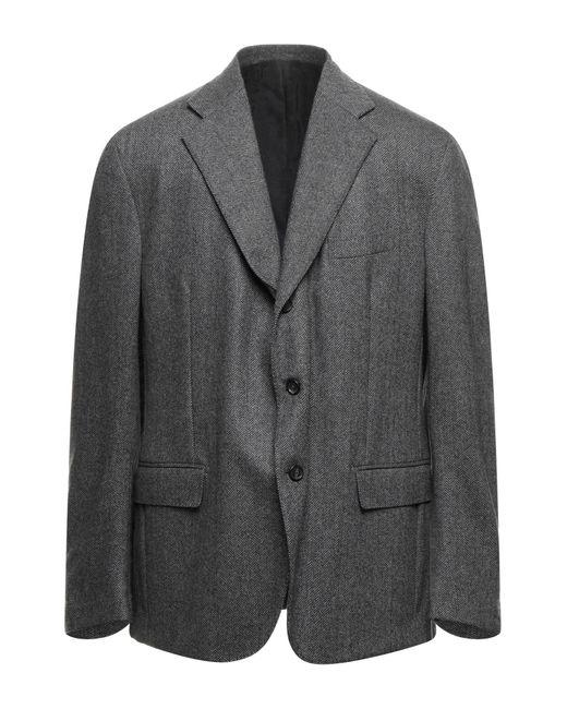 Tru Trussardi Gray Coat for men