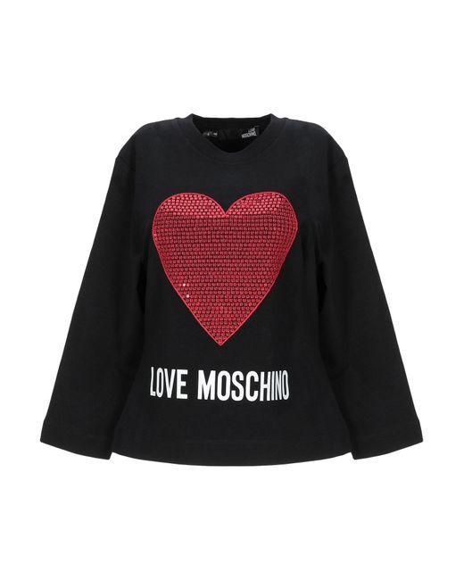 Sudadera Love Moschino de color Black