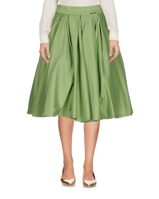 Lyst Mariagrazia Panizzi Knee Length Skirt In Green