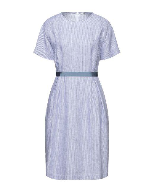 Peserico Blue Knielanges Kleid