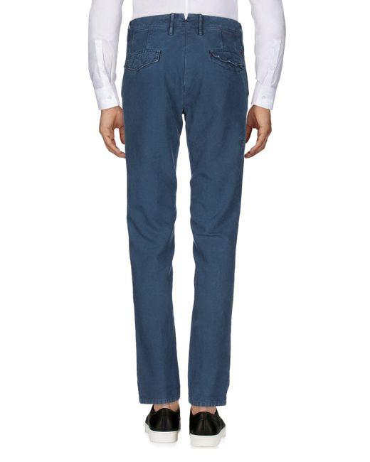 Incotex Pantalon homme de coloris bleu
