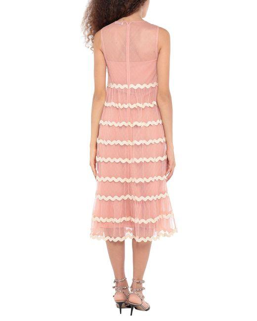 Vestito longuette di RED Valentino in Pink