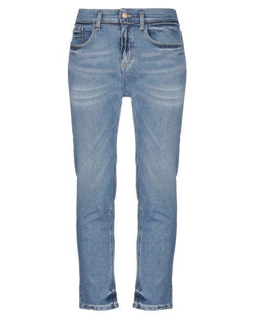 Twenty Easy By Kaos Blue Denim Trousers