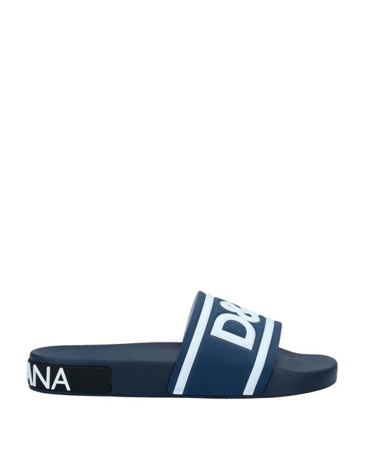 Dolce & Gabbana Blue Sandals for men