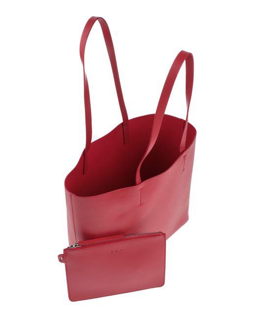 Sac porté épaule Aesther Ekme en coloris Red
