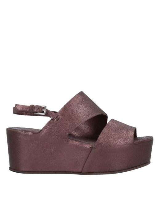Roberto Del Carlo Brown Sandals