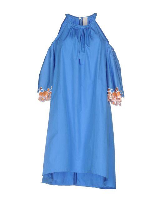 Peter Pilotto - Blue Short Dress - Lyst
