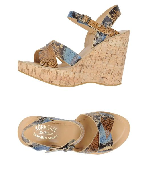 Kork-Ease - Blue Sandals - Lyst
