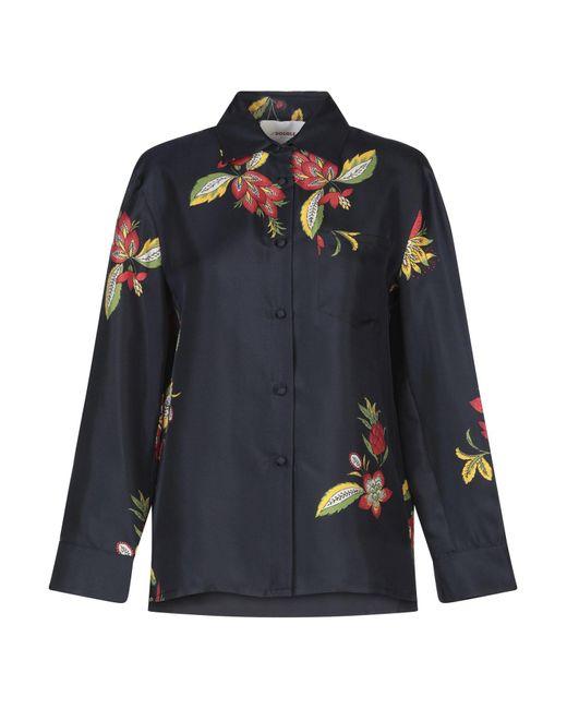 LaDoubleJ Camisa de mujer de color azul JAE95