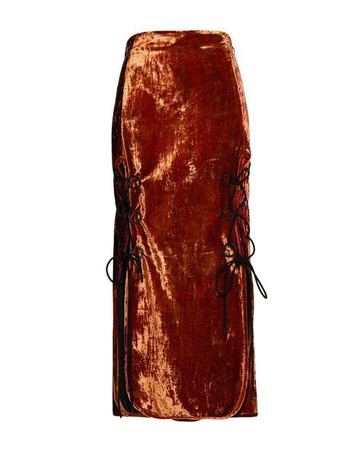 Falda larga Ellery de color Brown
