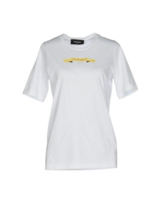 DSquared² - White T-shirt - Lyst