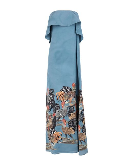Robe longue Stella Jean en coloris Blue