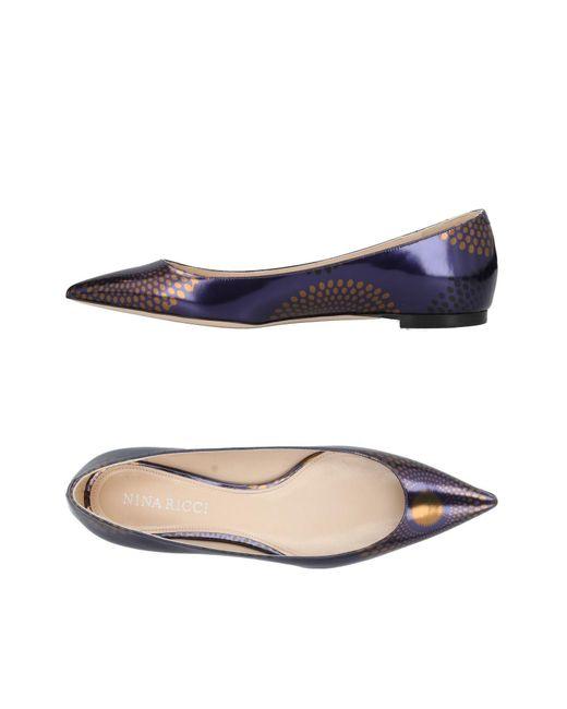 Nina Ricci - Purple Ballet Flats - Lyst