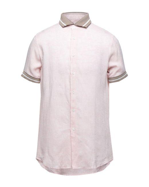 Camicia di Pal Zileri in Pink da Uomo