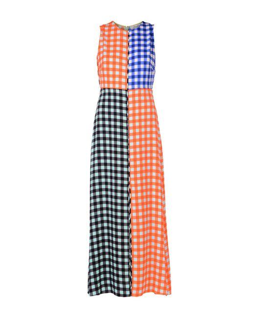 Diane von Furstenberg - Orange Long Dress - Lyst