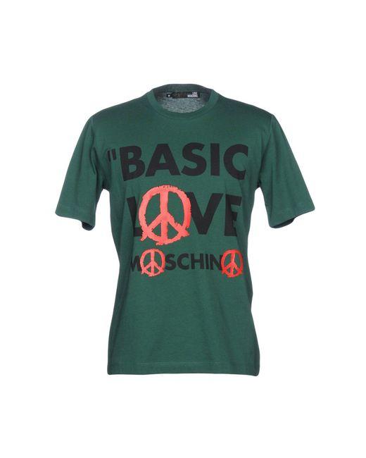 Love Moschino Green T-shirt for men