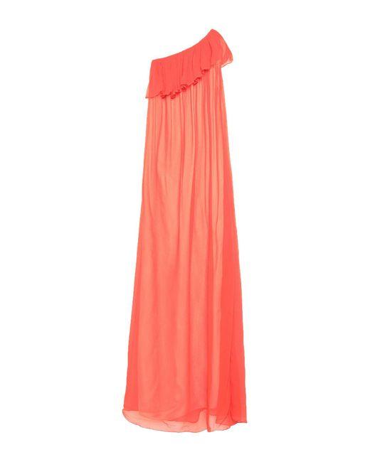 Jucca Vestido largo de mujer de color naranja