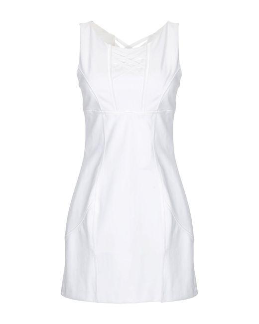 Ermanno Scervino White Short Dress