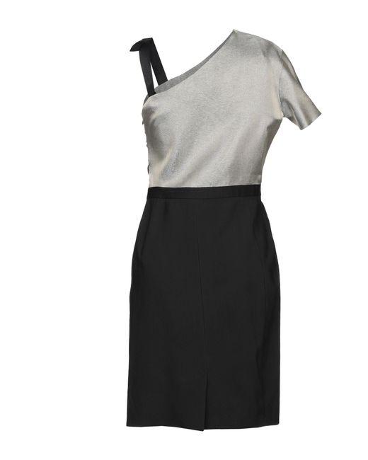 Robe courte Lanvin en coloris Black
