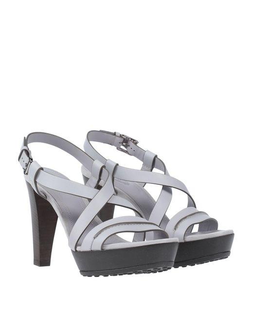 Sandales Tod's en coloris Gray