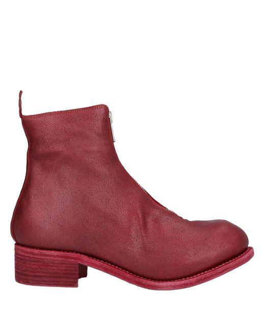 Botines de caña alta Guidi de color Red