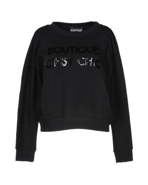 Boutique Moschino Black Sweatshirt
