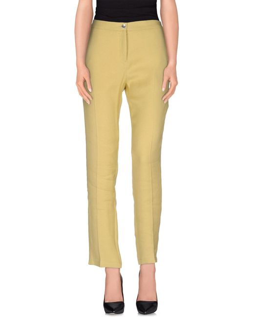 MM6 by Maison Martin Margiela - Yellow Casual Pants - Lyst