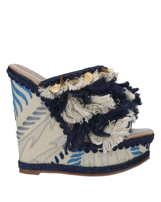 Santoni Blue Sandale