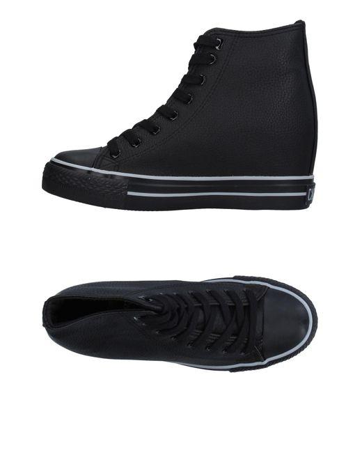 CafeNoir Black High-tops & Sneakers