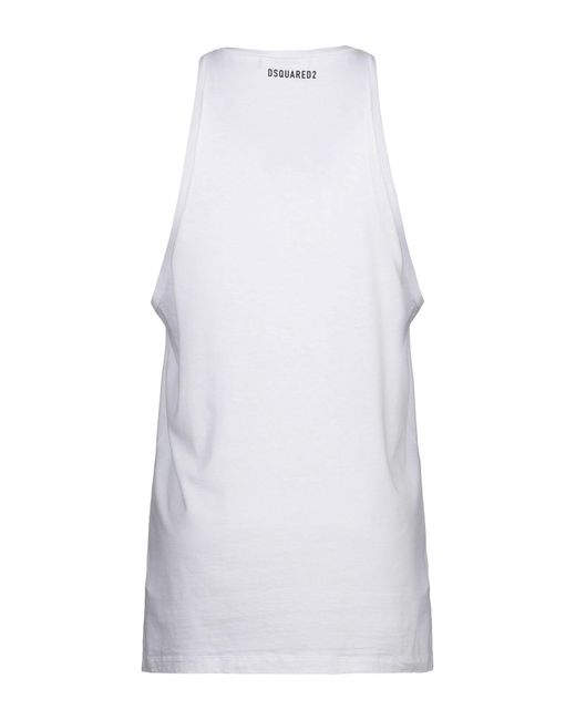 Camiseta de tirantes DSquared² de hombre de color White