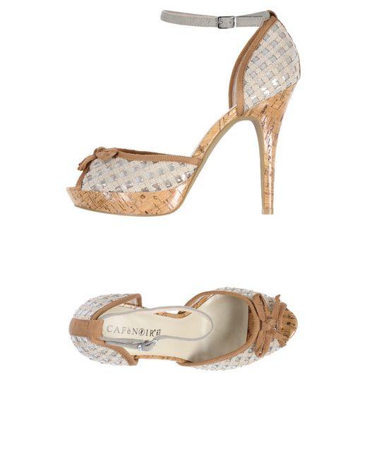 CafeNoir Natural Sandale